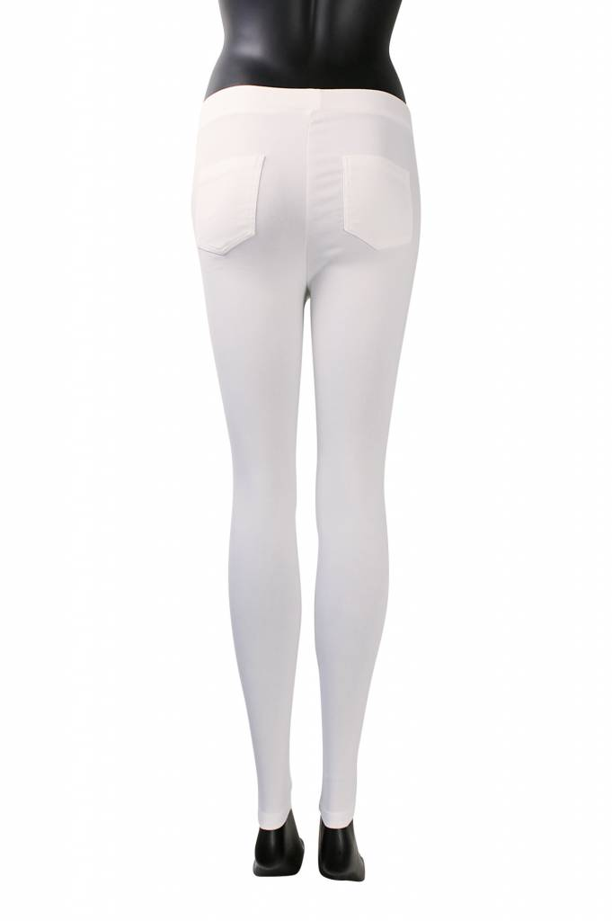 Stretch broek carrara wit