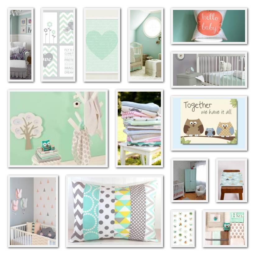 mintgroen is de trendy kleur voor de baby- en kinderkamer - ik ben, Deco ideeën