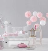 Jollein crib blanket pink with bows