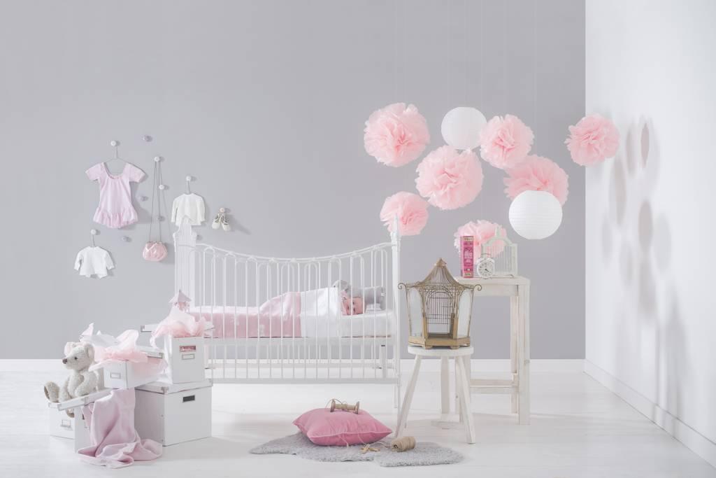 Jollein wiegdeken roze met strikjes