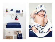 Snoopy line in dark blue with white
