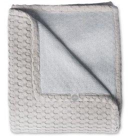 Jollein crib blanket 75x100cm Waffle gray gray