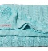 Jollein crib blanket 75x100cm Cable Jade TOG 0.6