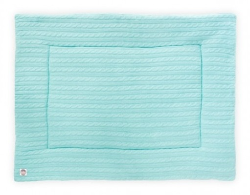 Jollein playpen crawl blanket Cable 80 x 100 cm jade