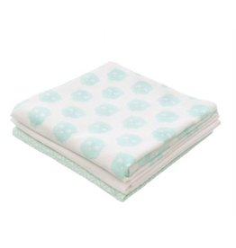 Flannel diaper Owl mint (3pack)