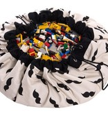Play & Go storage bag / play mat with mustaches print Mr. mustache