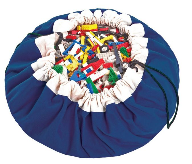 Play & Go kobalt blauwe opbergzak/speelkleed