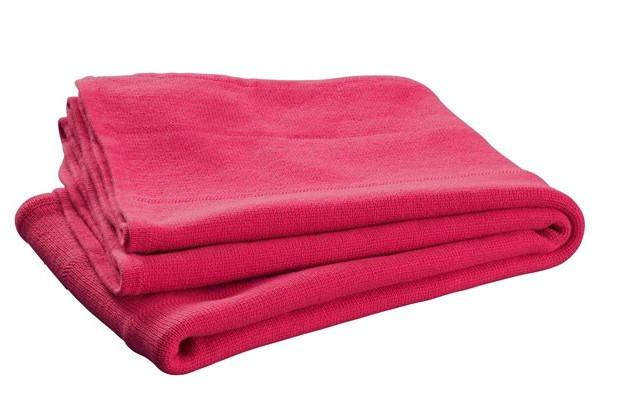Jollein crib blanket knitted 75 x 100 cm fuchsia pink