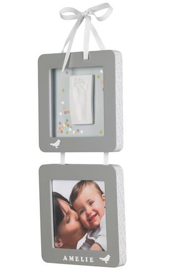 Baby Art hanging picture frames with hand / footprint