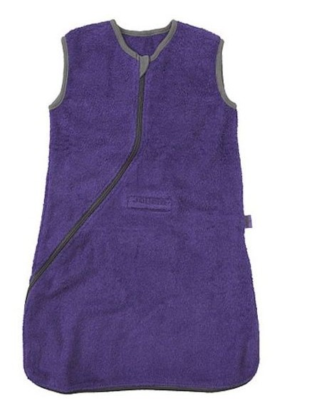 Jollein Terry sleeping bag with seat notches purple / gray