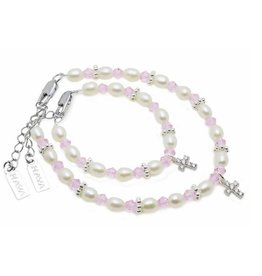 Kaya Sieraden Mom & Me faith bracelets Infinity for baptism or communion