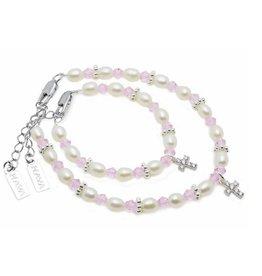 Kaya Sieraden Mom & Me faith bracelets Infinity for baptism or communion