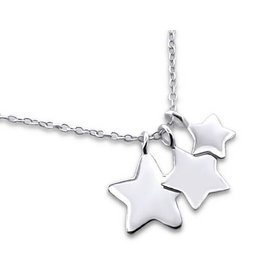 Kaya Sieraden SILVER mommy necklace 3 stars
