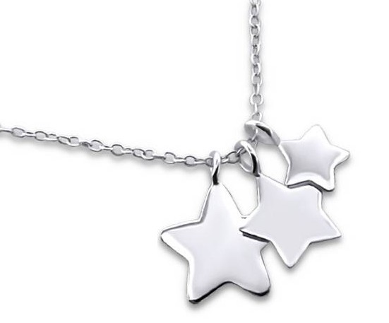 Kaya Sieraden SILVER mommy necklace 3 Stars - Free Shipping