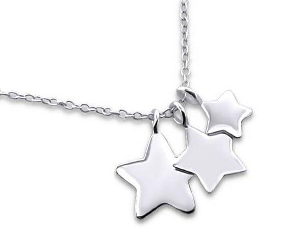 Kaya Sieraden SILVER mommy necklace 3 Stars - Free Shipping