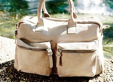 Leather diaper bags