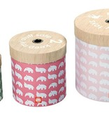 Done by Deer storage boxes around Powder pink set of 3