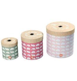 Done by Deer storage boxes around Powder pink set of 3