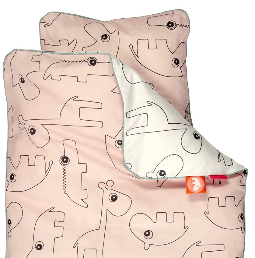 Done by Deer Contour Powder pink bed duvet 100 x 140 cm