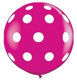 A Little Lovely Company XXL Polka Dot Ballon 80 cm - gratis verzending