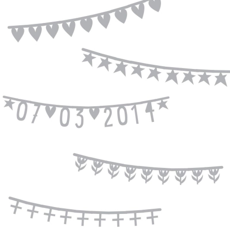 A Little Lovely Company Banner basics zilver 75 stuks symbolen en cijfers (gratis verzending)