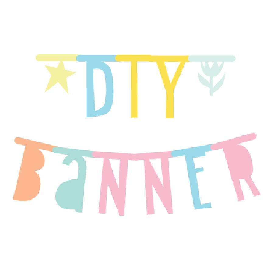 A Little Lovely Company Letter Banner Pastel 138 pieces (free shipping)