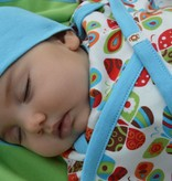 Kutuno beanie baby mutsje blauw
