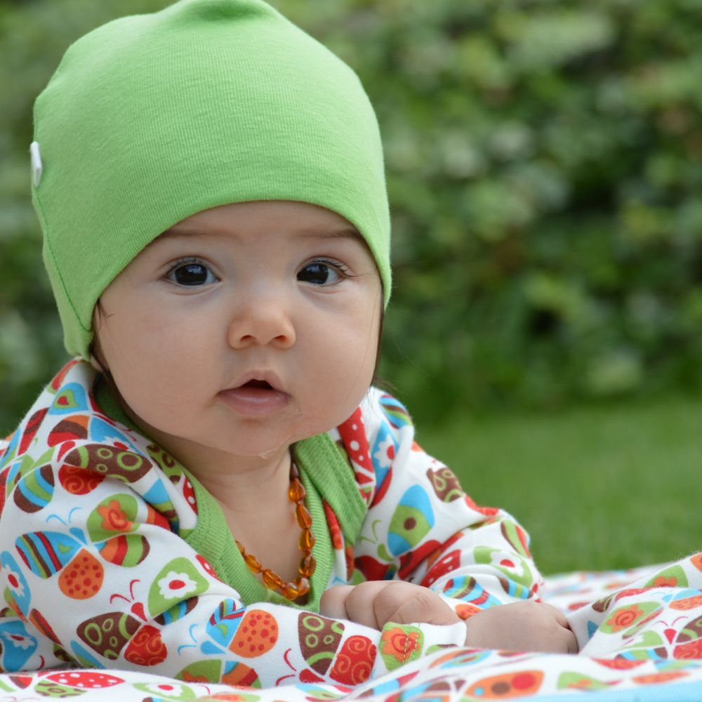 Kutuno beanie baby mutsje limegroen