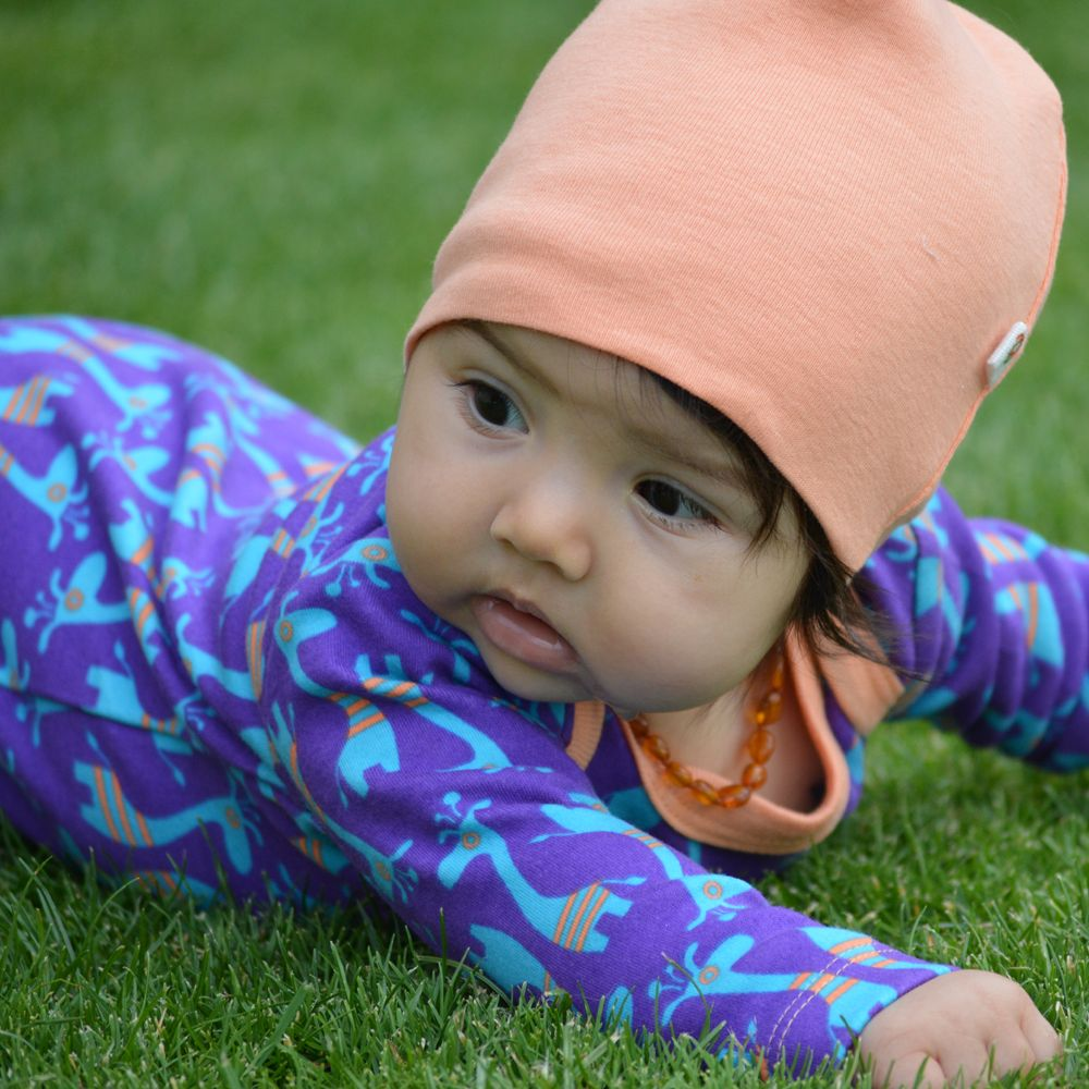 Kutuno beanie baby hat coral pink