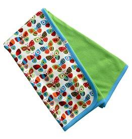 Kutuno lime green crib blanket Butterflies