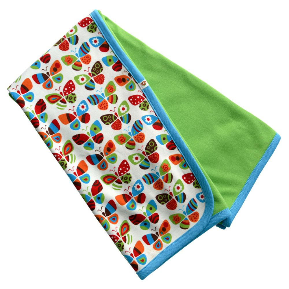 lime green crib blanket Butterflies