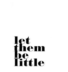 Poppyphoto postcard Let them be little