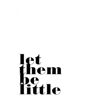 postcard Let them be little