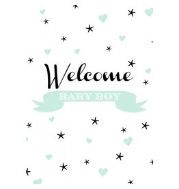Poppyphoto postkaart Welcome Boy mint