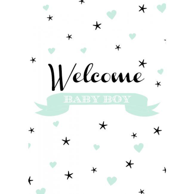Poppyphoto postkaart Welcome Boy mint (gratis verzending)
