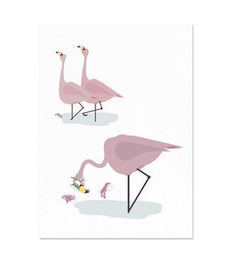 Flamingo poster 50 x 70 cm