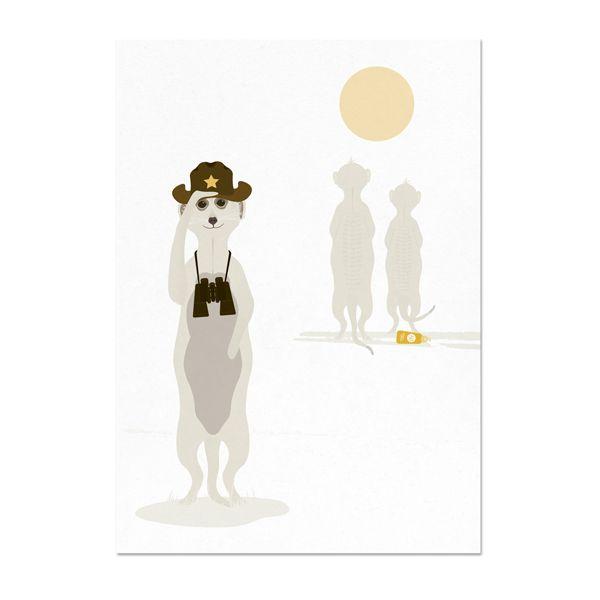 norsuStories greeting card Meerkat