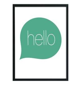 Studio82 poster A3 Hello