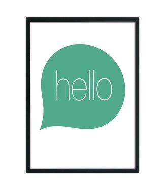 A3 poster Hello
