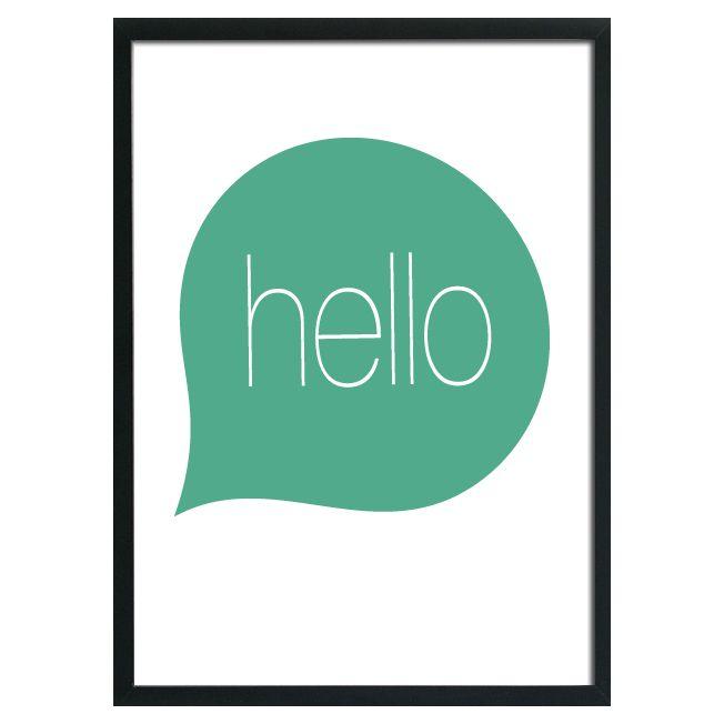 Studio82 A3 poster Hello