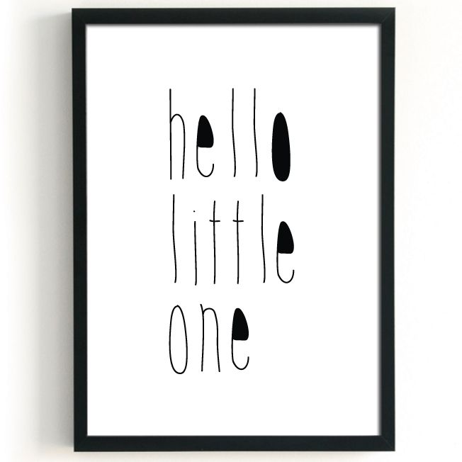 Studio82 poster A3 Hello Little One