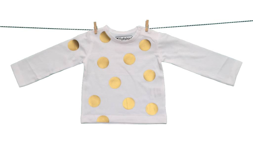 Tofshirt longsleeve with gold dots