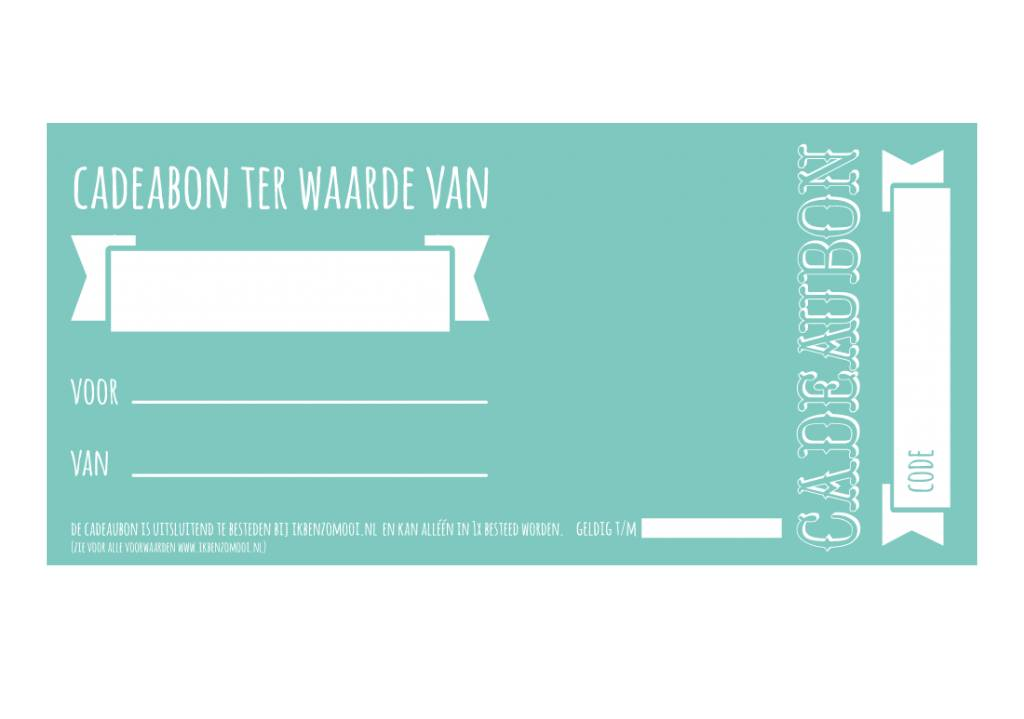 Cadeaubon (gratis verzending)