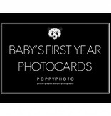 Poppyphoto Baby's First Year cards monochrome (free shipping)