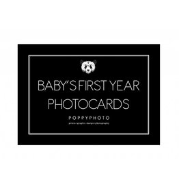 Poppyphoto Baby's First Year cards monochrome
