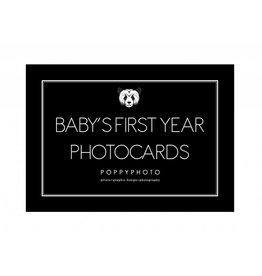 Poppyphoto Baby's First Year fotokaarten monochrome