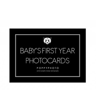 Baby's First Year cards monochrome