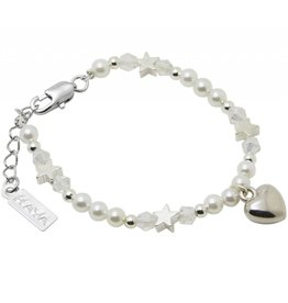 Kaya Sieraden Brightstar girls bracelet with heart
