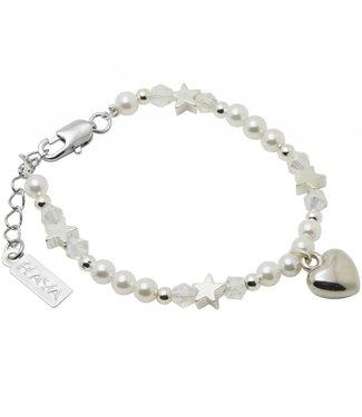 Kaya Sieraden Brightstar girls bracelet with heart