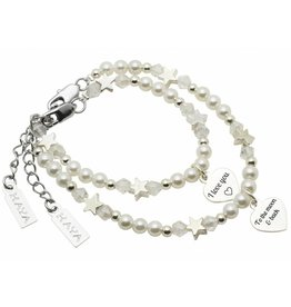 Kaya Sieraden mother daughter bracelet set 'I love you á - to the moon and back'